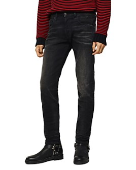 Diesel - D-Bazer Slim Straight Jeans in Black Denim
