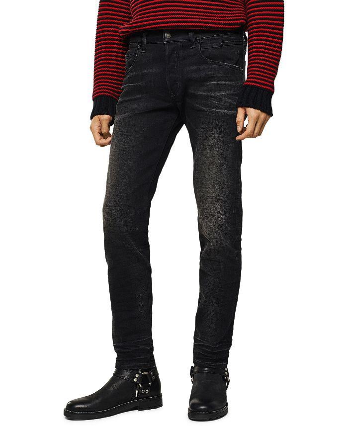 Diesel - D-Bazer Slim Straight Jeans in Black Denim