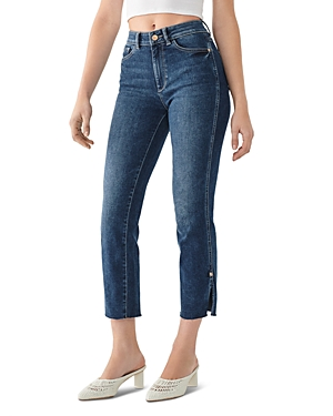 DL1961 Mara High-Rise Ankle Straight Jeans in Roswell