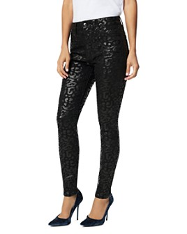 Joe's Jeans - The Charlie Ankle Skinny Jeans in Shiny Cheetah