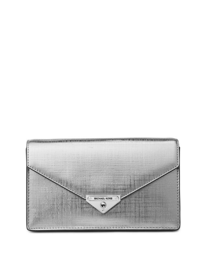 MICHAEL Michael Kors Loulou Medium Leather Clutch  | Bloomingdale's