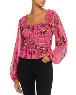 WAYF - Juniper Floral Gathered Top
