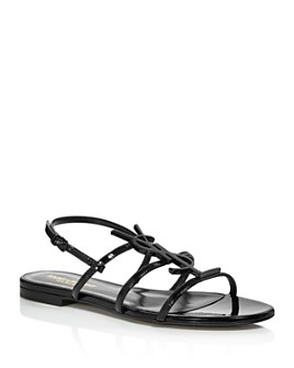Saint Laurent - Women's Cassandra Logo Sandals