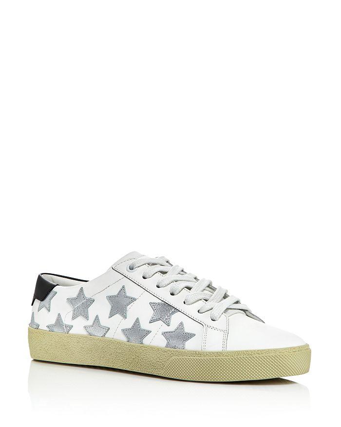 Saint Laurent - Women's Star Leather Sneakers