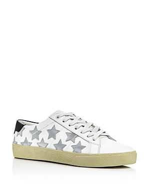 Saint Laurent Women's Star Leather Sneakers