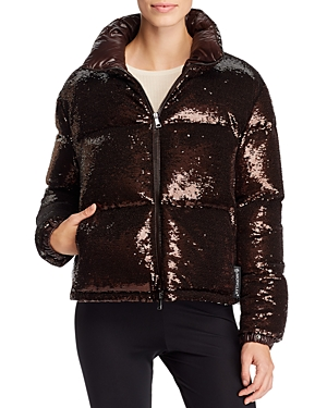Moncler Coats RIMAC SEQUIN DOWN COAT