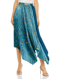 Amur - Pleated Floral-Printed Midi Skirt