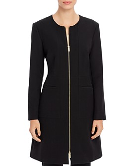 Donna Karan - Long Zip-Front Jacket