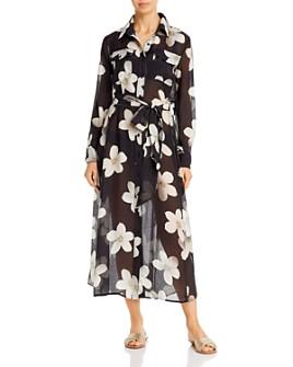 Ralph Lauren - Villa Floral Shirt Dress Swim Cover-Up