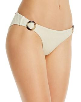 Red Carter - Textured Adjustable Hipster Bikini Bottom