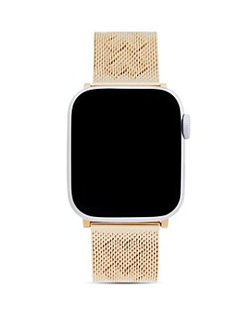 Rebecca Minkoff - Apple Watch® Gold-Tone Heart-Pressed Mesh Bracelet, 38mm & 40mm