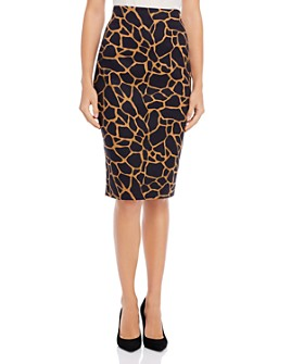 Donna Karan - Giraffe-Print Pencil Skirt
