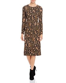 Donna Karan - Printed Side-Ruched Dress