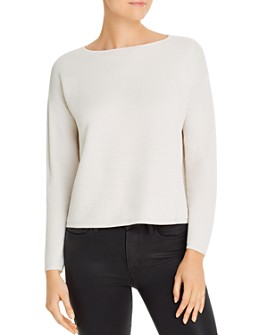 Eileen Fisher - Cropped Waffle-Knit Sweater