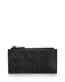 Bottega Veneta - Intreciatto Zip Woven Leather Card Case