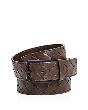 Bottega Veneta Men's Intrecciato Leather Belt