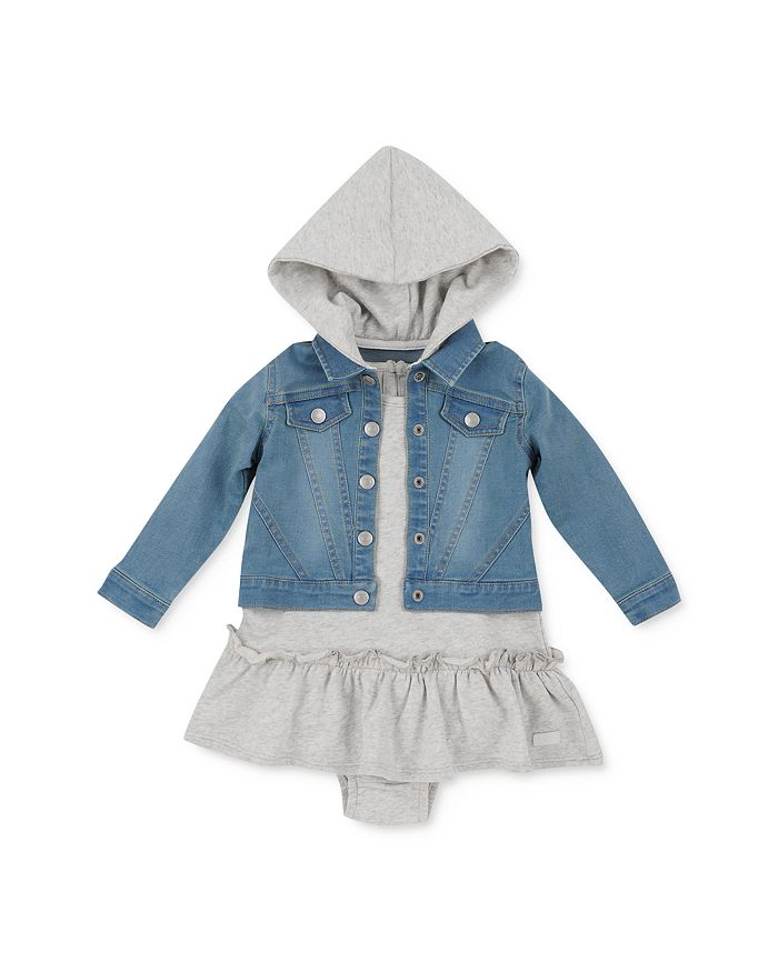 7 For All Mankind - Girls' Denim Jacket & Dress Set - Baby