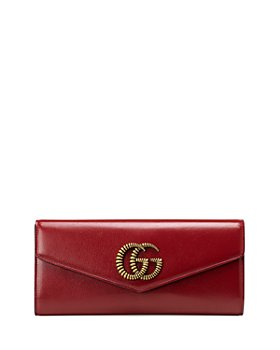 Gucci - Broadway Leather Clutch with Double G