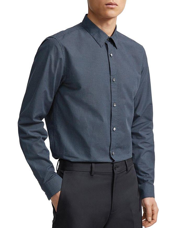 Theory - Irving Tick Regular Fit Shirt