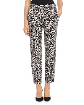 Karen Kane - Leopard-Jacquard Straight-Leg Pants