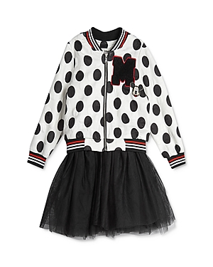 Pippa & Julie x Disney Girls\\\' Mickey Bomber Jacket & Tutu Dress Set - Baby-Kids