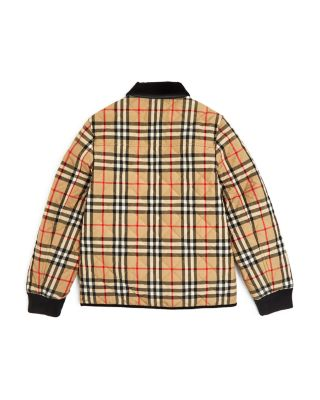 Kids Boys Warm Winter Check Quilter Coat Hooded Trench Wool Jacket Coat Parka