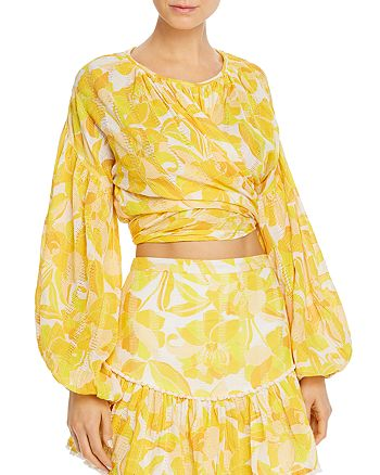 Significant Other - Isla Printed Cropped Top