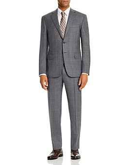 Canali - Siena Tonal Windowpane Plaid Classic Fit Suit