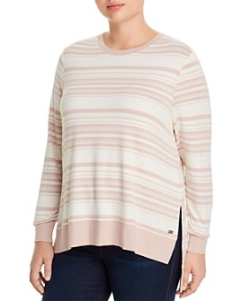 Marc New York Plus - Striped Lightweight Sweatshirt