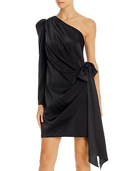 Aidan by Aidan Mattox - One-Shoulder Puff-Sleeve Dress - 100% Exclusive