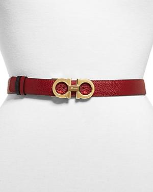 Salvatore Ferragamo Gancini 2.5 Reversible Leather Belt