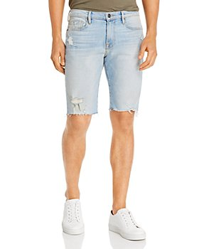FRAME - L'Homme Cut-Off Shorts in Tidal