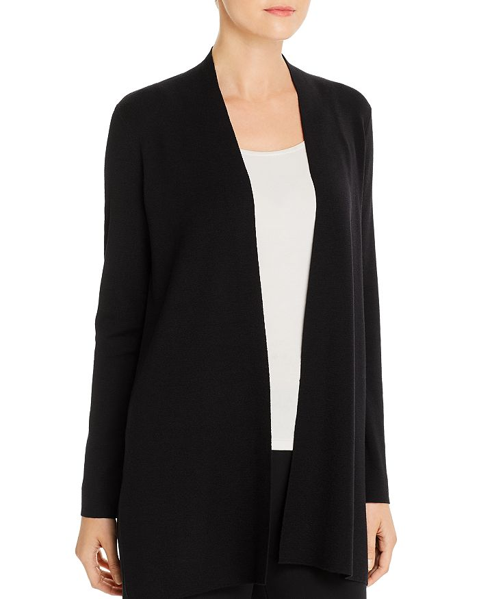Eileen Fisher - Merino Wool Open-Front Cardigan