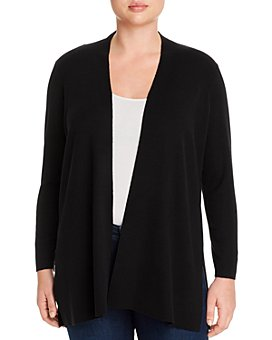 Eileen Fisher Plus - Merino Wool Open-Front Cardigan