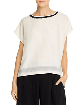 Weekend Max Mara - Glasgow Fringed Linen-Front Top