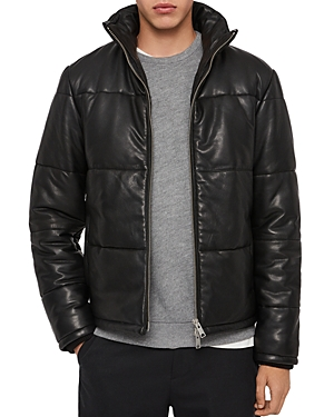 Allsaints Coronet Leather Puffer Jacket