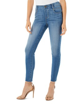 Liverpool Los Angeles - Gia Glider Raw-Hem Ankle Jeans in Oxford