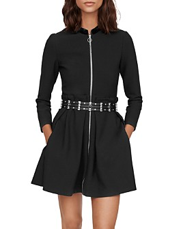Maje - Ranelin Zip-Front Mini Dress