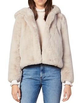 Sandro - Mirage Hooded Faux-Fur Coat