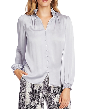 Vince Camuto Smocked Detail Button-Down Top-Women