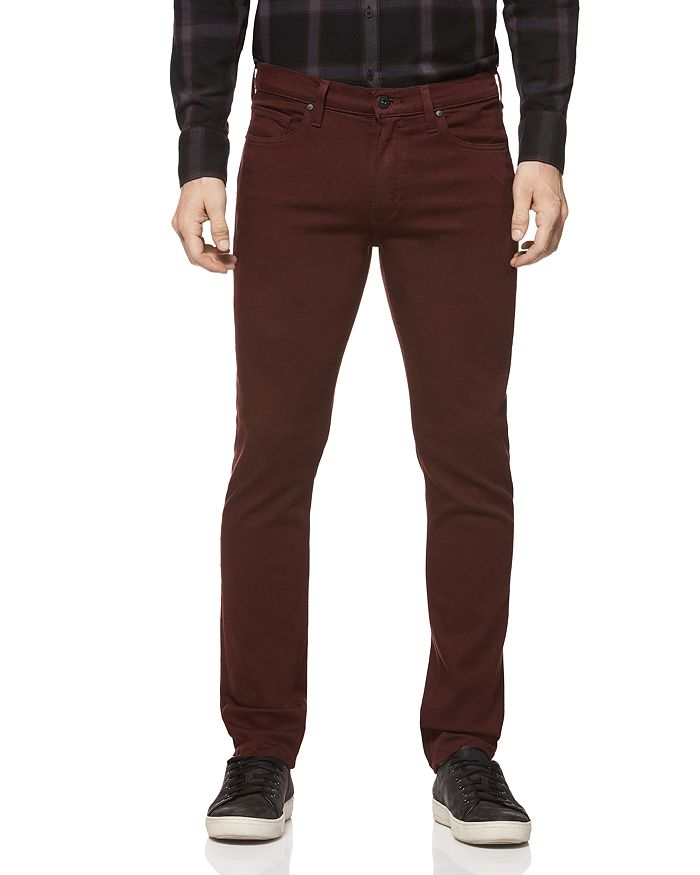 PAIGE - Lennox Slim Fit Jeans in Rustic Wine
