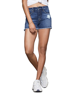Good American Cut-Off Denim Shorts in Blue364-Women