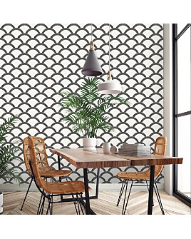 Tempaper - Mosaic Scallop Self-Adhesive, Removable Wallpaper, Double Roll