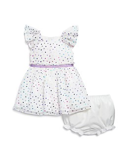 Pippa & Julie - Girls' Foil Polka Dot Dress & Bloomers Set - Baby