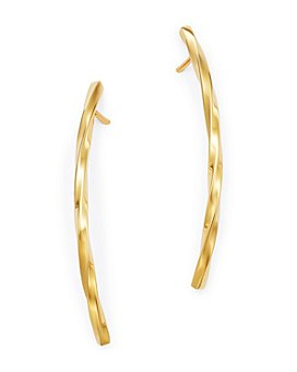 Bloomingdale's - Twisted Bar Drop Earrings in 14K Yellow Gold - 100% Exclusive