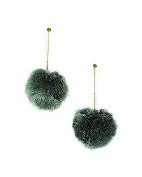 kate spade new york - Want It Pom Pom Linear Earrings
