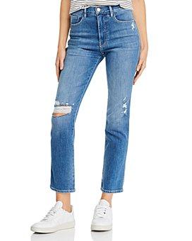 FRAME - Le Sylvie Slender Straight-Leg Jeans in Sonoma Rips