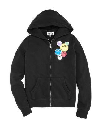 I Love Heart Mules Black Kids Sweatshirt