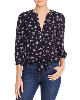 1.STATE - Floral Tie-Front Top
