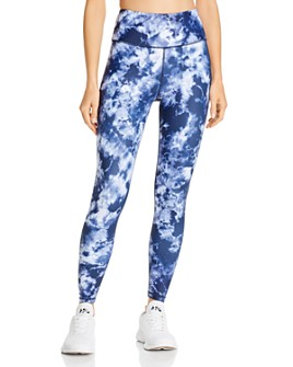 AQUA - High-Rise Tie-Dye Leggings - 100% Exclusive